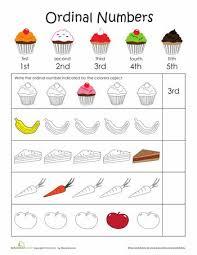 ordinal numbers worksheet kindergarten free worksheets library