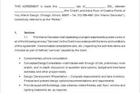 Interior Design Businesses by Interior Design Contract Template Free Interior Business Plan