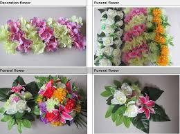 cheap funeral flowers new design cheap artificial open blue flower single stem