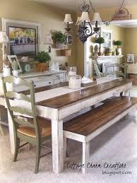 Farmhouse Dining Room Tables Furniture Pretty Dining Tables With Bench Farmhouse Table
