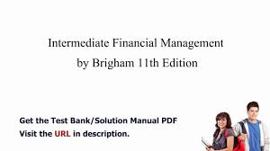 practice test bank for intermediate financial management by