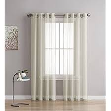 Curtains 46 Inches Long Amazon Com Curtain Fresh Arm And Hammer Odor Neutralizing Sheer