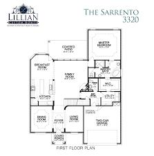 the sarrento westpark new home floor plan keller tx