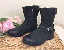 ugg womens grandle boots black ugg australia s leather us size 8 ebay