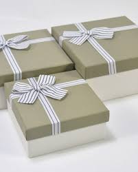 silver boxes with bows on top top bottom two pieces setup paper gift box shinepac paper