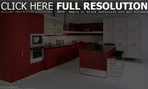 Red And White Kitchen by Red And Black Kitchen Decor Ideas White Home Design With Color As