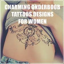 101 charming underboob tattoos designs for