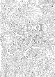 choose joy colour with me hello angel coloring design