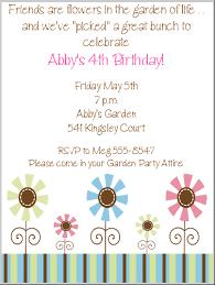 garden birthday party invitations