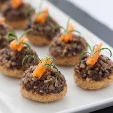 food canapes haggis oatcake canapé recipe food