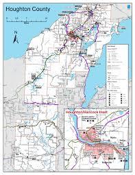 map of calumet michigan houghtontrails2013 png