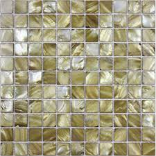 Tiles  Gold Seashell Mosaic Mother Of Pearl Tiles Kitchen - Gold backsplash