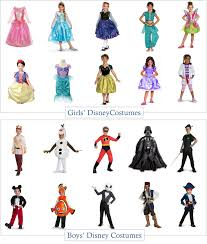 boys and girls disney character halloween costume roundup