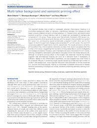 multi talker background and semantic priming effect pdf download