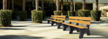 commercial park benches office bench recycled plastic metal