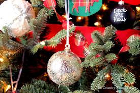 farmhouse tree with plaid ornaments the country chic