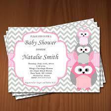 owl themed baby shower invitations best shower