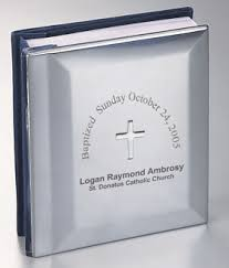 engraved photo albums cross baptism album engraved gift collection