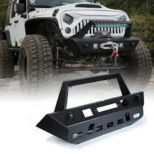 jeep wrangler road bumper beast series front aluminum bumper w winch plate for 07 17 jeep