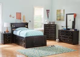 catalina 6 pc twin bkcs storage br blk black kids bedroom sets