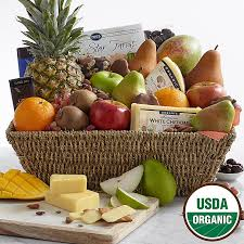 food baskets to send organic fruit organic gift baskets delivered at proflowers