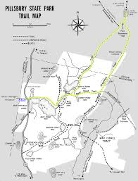 New England State Map by Hike New England Trail Map For Lucia U0027s Lookout At Pillsbury