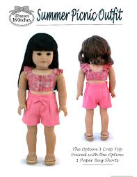 paper bag toddler shorts pattern forever 18 inches summer picnic outfit doll clothes pattern 18 inch