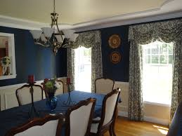 Blue Dining Room Ideas Floral Drapes Dining Room Business For Curtains Decoration