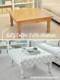 Diy Storage Coffee Table by Coffee Table Diy Tufted Fabric Ottoman From An Old Table Make It