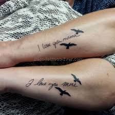 boyfriend and girlfriend matching tattoos 2 best tattoos ever