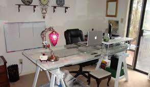 Glass Desk Office The Glass Top Desk And Office Overhaul Lifehacker Australia