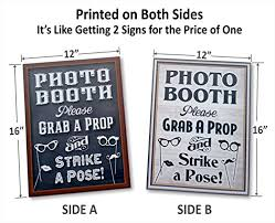 photo booth signs 16 x 12 photo booth prop sign 2 sided design firebooth
