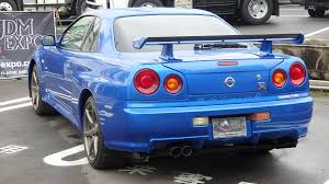 nissan skyline 2015 blue nissan skyline gtr r34 v spec ii nur for sale in japan