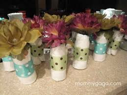 home made baby shower decorations party favors ideas homemade homemade baby shower table decoration