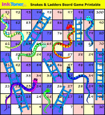 snakes and ladders printable board game inkntoneruk blog