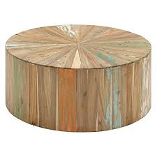 benzara artistic and lovely reclaimed wood coffee table