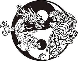 collection of 25 serpent yin yang