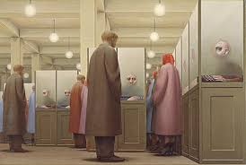 government bureau by george tooker