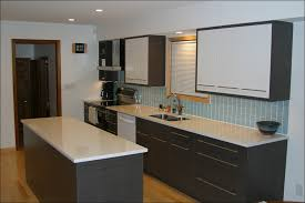 Kitchen  Brick Tile Backsplash Glass Accent Tile Mosaic - Black glass subway tile backsplash
