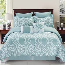 Aqua And White Comforter Dawson Reversible Comforter Set In Blue White Bed Bath U0026 Beyond