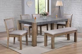 Rustic Oak Dining Tables Acme 74665 74667 X4 5pc Ii Gray Rustic Oak Dining