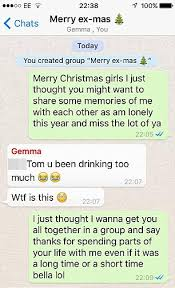 puts ex girlfriends in whatsapp chat to send festive