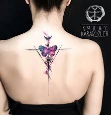 space butterfly back tattoo butterfly space geometric u003c u003cback