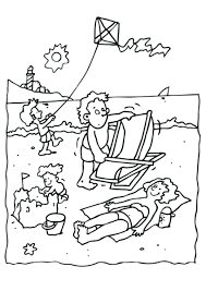 summer coloring sheets free printable page beach vacation pages