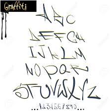 graffiti font alphabet abc letters royalty free cliparts vectors