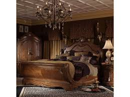 michael amini cortina queen traditional cherry sleigh bed