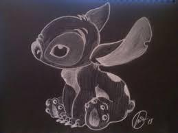 experiment 626 study of chalk on black paper by clownfishh on