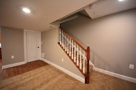 Staircase Banister Ideas Basement Stair Railing Install Best Basement Stairs Railing