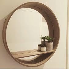 round mirror with shelf designs regarding bathroom plan 15
