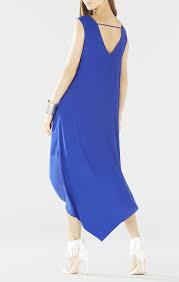turmec bcbg royal blue strapless dress